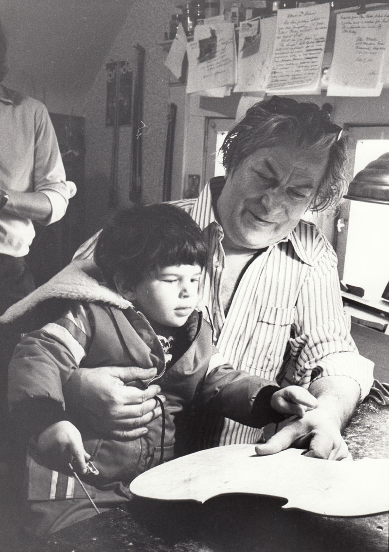 Otto Erdesz and his son Michael