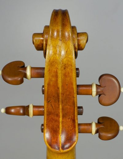 Strad model violin scroll