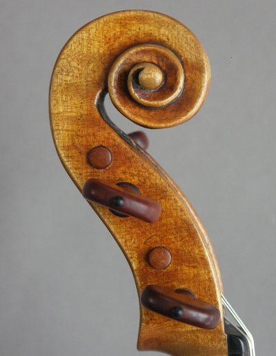 Guarneri model violin scroll