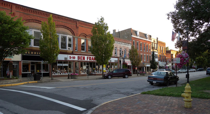Downtown Oberlin Ohio