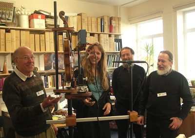 Colin Gough, Claudia Fritz, Jim Woodhouse, and George Stoppani at Cambridge, 2007