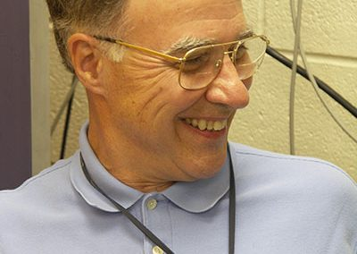 Dr. George Bissinger in his lab