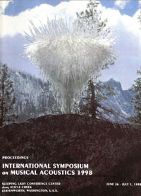 Proceedings, International Symposium of Musical Acoustics (ISMA), July 1998