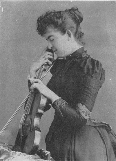 Maud Powell with Peter Guarneri violin
